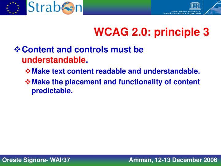 WCAG 2.0: principle 3