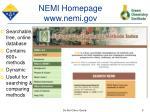 nemi homepage www nemi gov