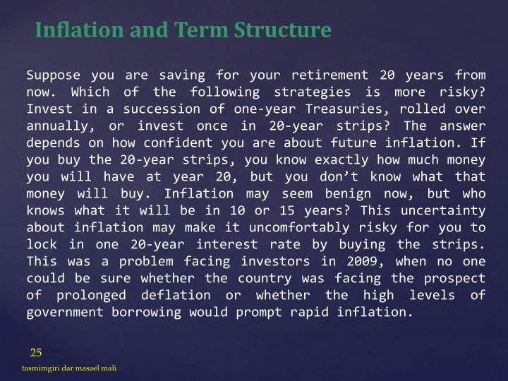 Inflation and Term Structure