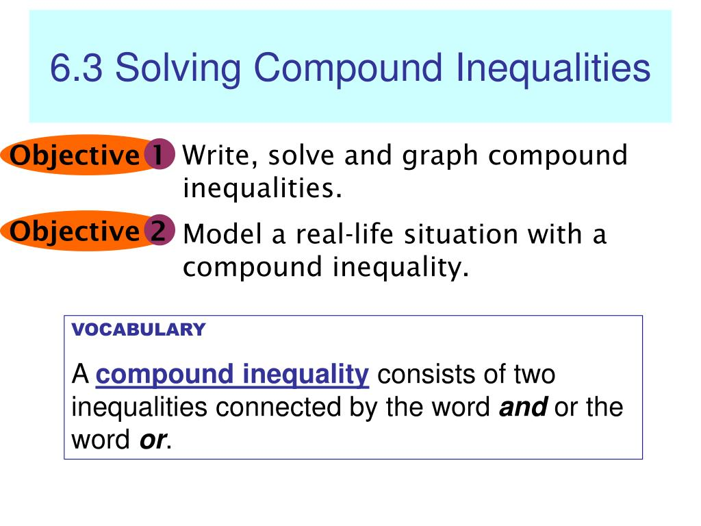 - PPT - 6.3 Solving Compound Inequalities PowerPoint Presentation
