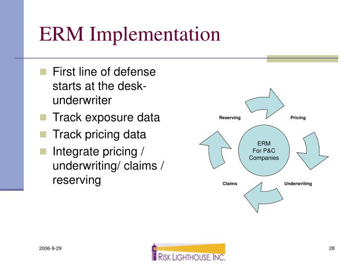 ERM Implementation