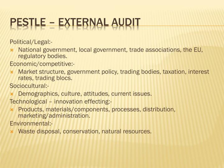 Political/Legal:-