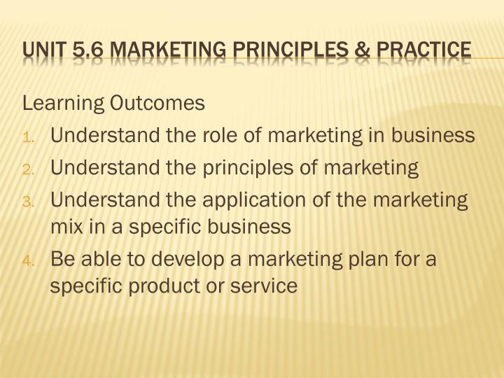 Unit 5 6 marketing principles practice