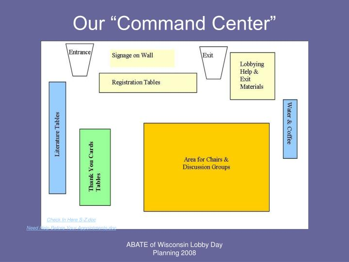 """Our """"Command Center"""""""