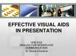 effective visual aids in presentation