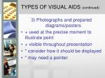types of visual aids continued1