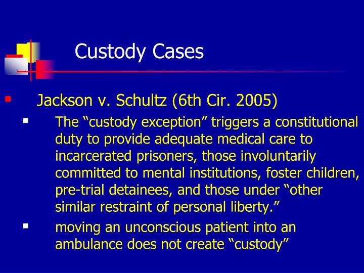 Custody Cases