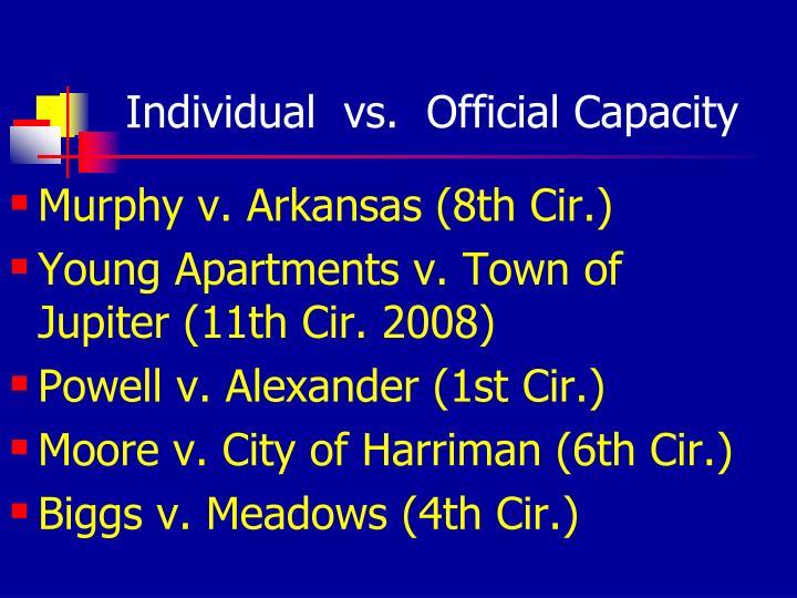 Individual  vs.  Official Capacity