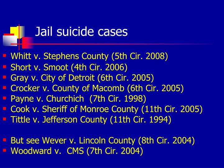 Jail suicide cases