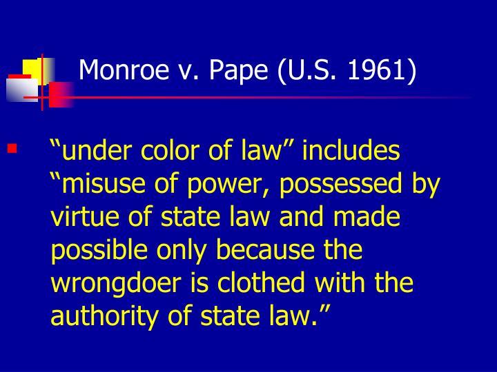 Monroe v. Pape (U.S. 1961)