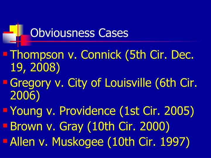 Obviousness Cases