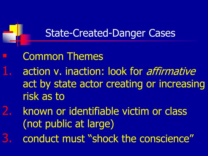 State-Created-Danger Cases