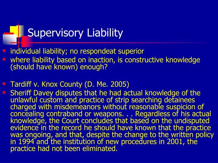 Supervisory Liability