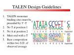 talen design guidelines