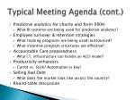 typical meeting agenda cont