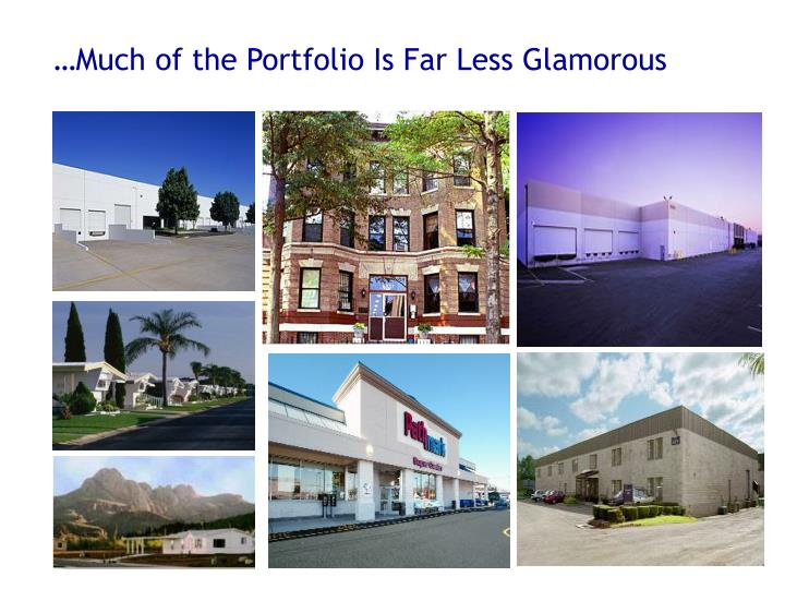 …Much of the Portfolio Is Far Less Glamorous