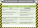 the foundation research report1