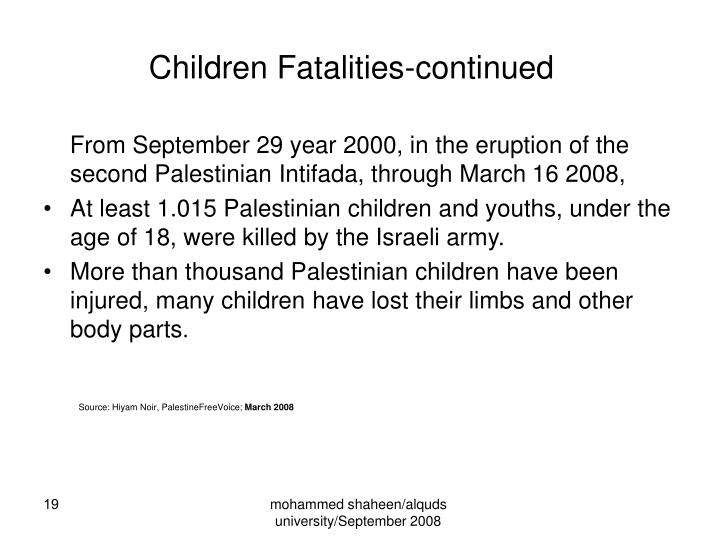 Children Fatalities-continued