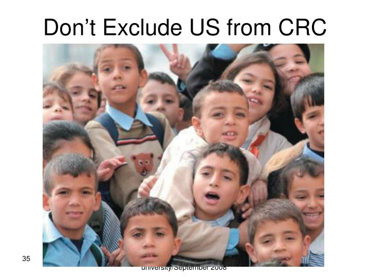 Don't Exclude US from CRC
