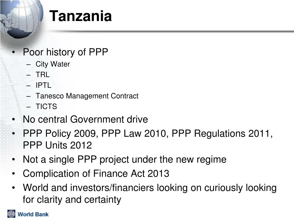 PPT - PPP Programmes Why and How with a focus on Tanzania PowerPoint