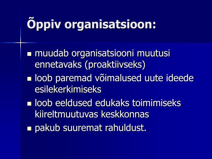 Õppiv organisatsioon: