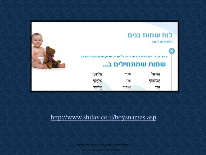 http://www.shilav.co.il/boysnames.asp