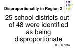 disproportionality in region 2