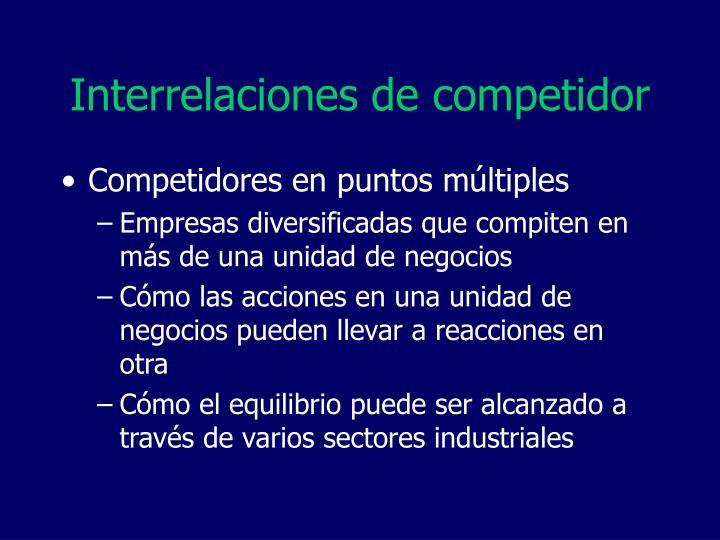 Interrelaciones de competidor