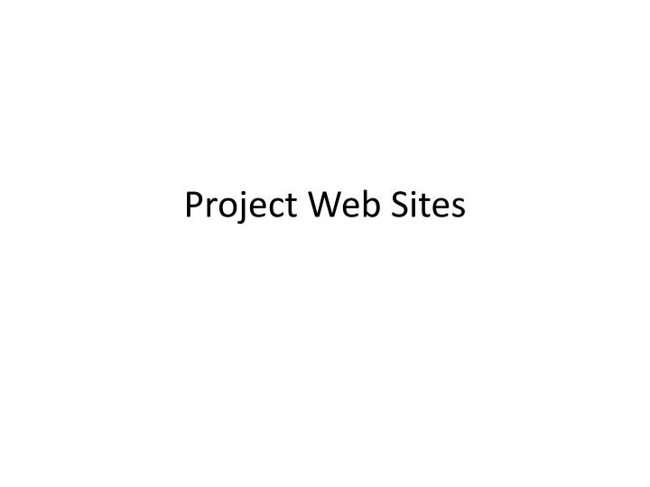 project web sites n.