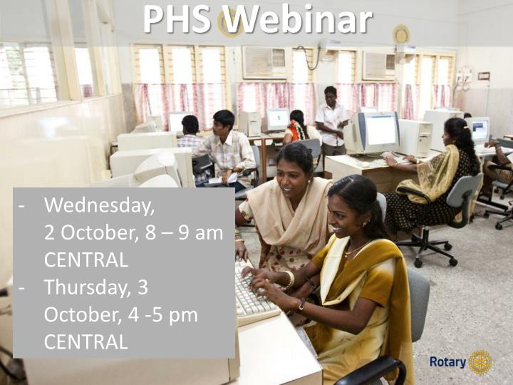 PHS Webinar