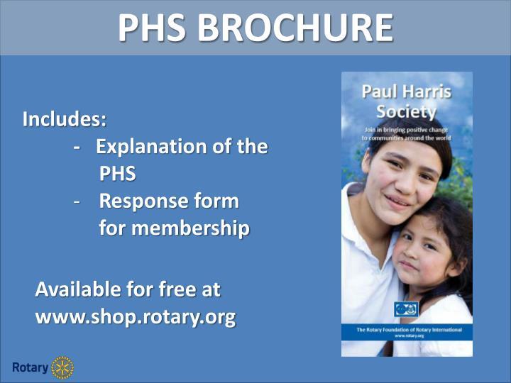 PHS BROCHURE
