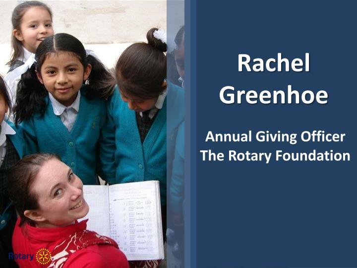 Rachel Greenhoe