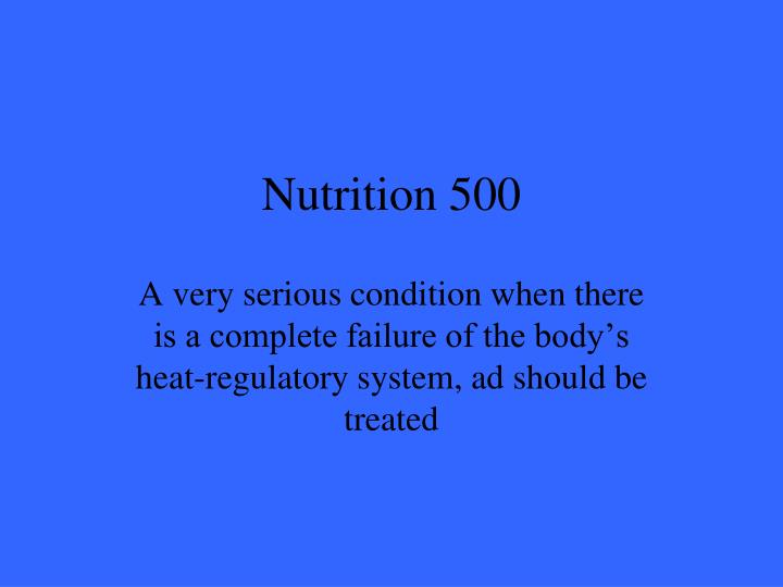 Nutrition 500