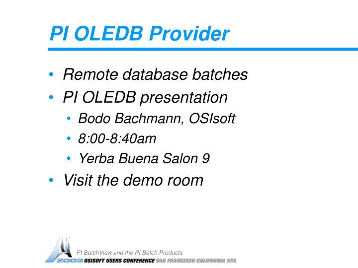 PI OLEDB Provider