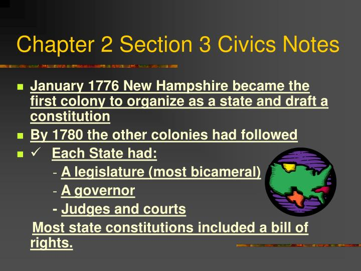 chapter 2 section 3 civics notes n.