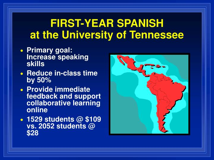 FIRST-YEAR SPANISH