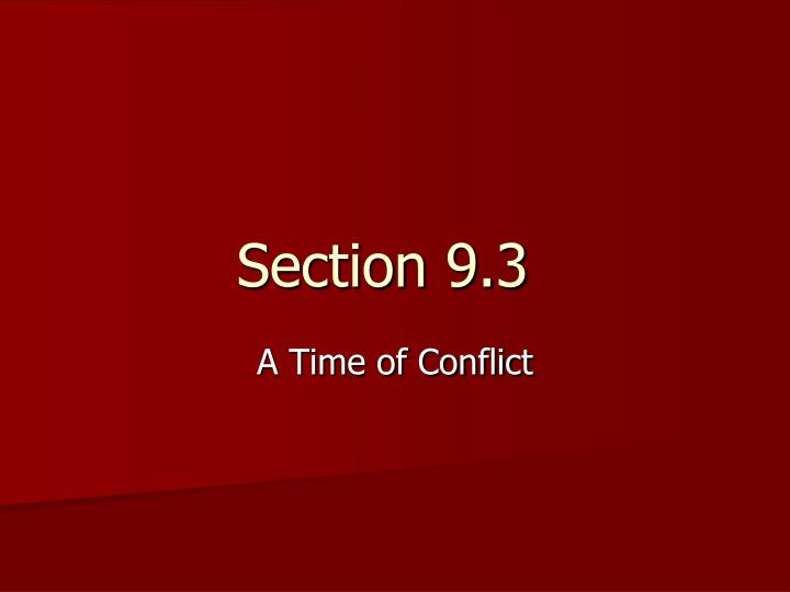 Section 9 3