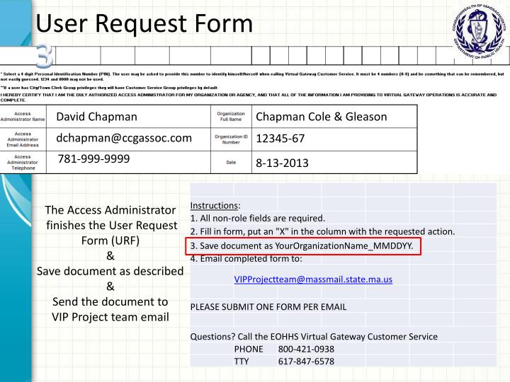 User Request Form