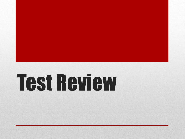 test review n.