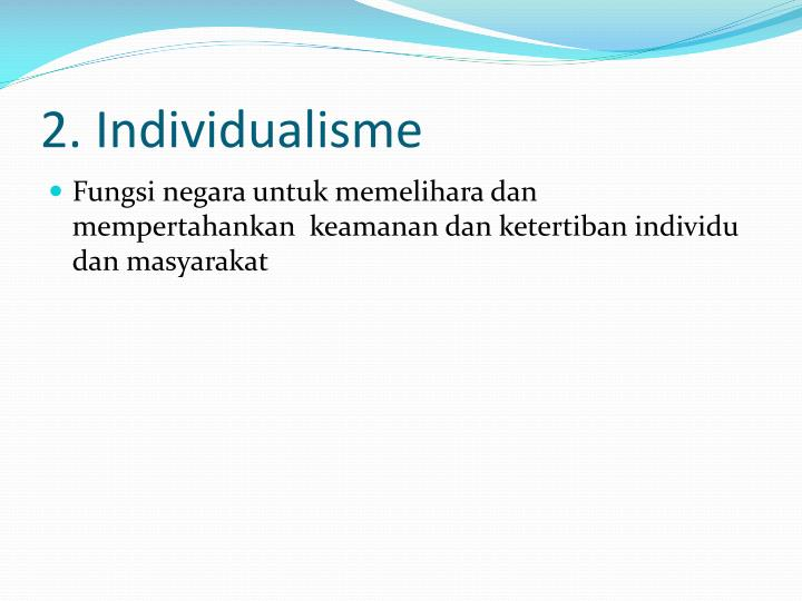 2. Individualisme