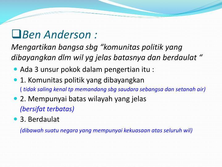 Ben Anderson :