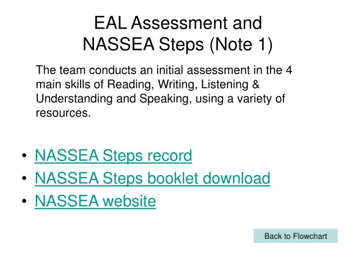 EAL Assessment and