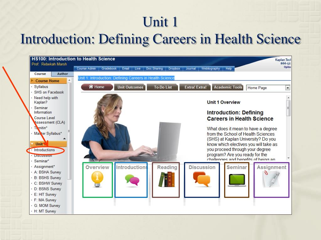 PPT - Welcome to HS100: Introduction to Health Science