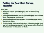 putting the four cost curves together