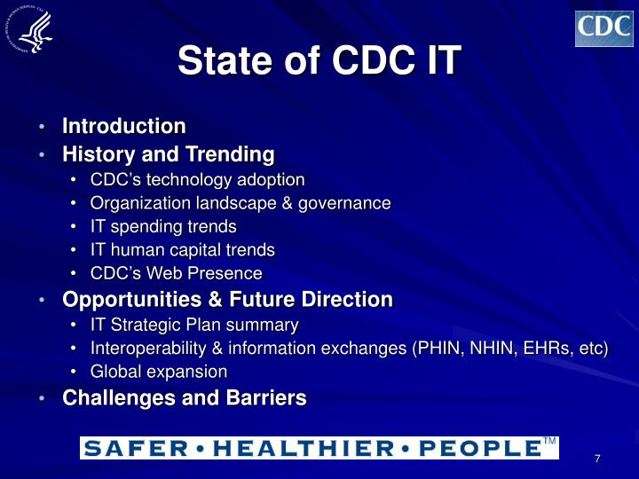 State of CDC IT