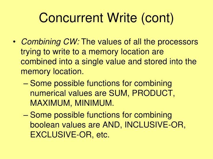 Concurrent Write (cont)