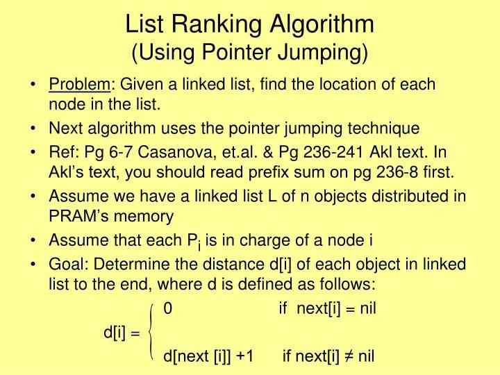 List Ranking Algorithm