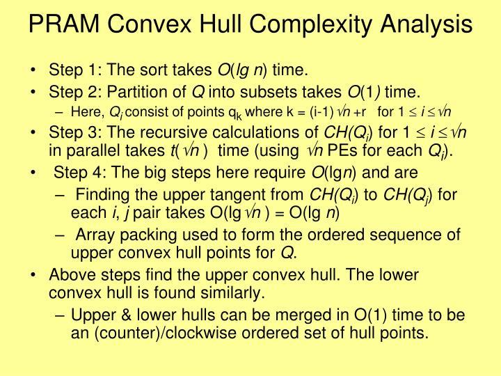 PRAM Convex Hull Complexity Analysis