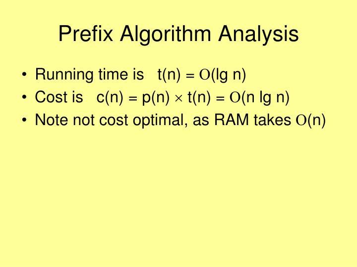 Prefix Algorithm Analysis