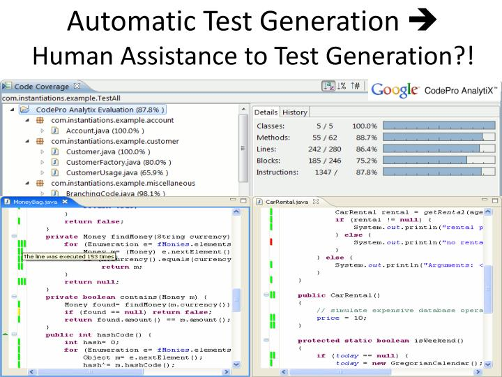 Automatic Test Generation